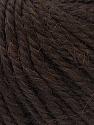 Fiber Content 40% Acrylic, 35% Wool, 25% Alpaca, Brand ICE, Dark Brown, Yarn Thickness 5 Bulky  Chunky, Craft, Rug, fnt2-25397