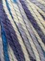 Fiber Content 40% Acrylic, 35% Wool, 25% Alpaca, White, Purple, Brand ICE, Blue, Yarn Thickness 5 Bulky  Chunky, Craft, Rug, fnt2-25420