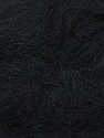 Fiber Content 70% Mohair, 30% Acrylic, Brand ICE, Black, Yarn Thickness 3 Light  DK, Light, Worsted, fnt2-35044