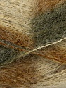 Fiber Content 70% Mohair, 30% Acrylic, Brand ICE, Green Shades, Cream, Yarn Thickness 3 Light  DK, Light, Worsted, fnt2-35065