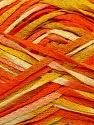 Fiber Content 100% Acrylic, Yellow, Orange, Brand ICE, Cream, Yarn Thickness 3 Light  DK, Light, Worsted, fnt2-37465