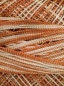 Fiber Content 100% Micro Fiber, Light Brown, Brand ICE, Beige, Yarn Thickness 0 Lace  Fingering Crochet Thread, fnt2-40199
