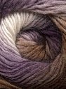Fiber Content 50% Wool, 50% Acrylic, White, Purple, Brand ICE, Brown Shades, Yarn Thickness 2 Fine  Sport, Baby, fnt2-40629