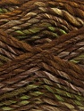 Contenido de fibra 75% Acrílico, 25% Lana, Brand Ice Yarns, Green, Brown Shades, Yarn Thickness 5 Bulky Chunky, Craft, Rug, fnt2-40814