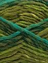 Contenido de fibra 75% Acrílico, 25% Lana, Turquoise, Khaki, Brand Ice Yarns, Green Shades, Yarn Thickness 5 Bulky Chunky, Craft, Rug, fnt2-40818