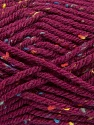 Fiber Content 72% Acrylic, 3% Viscose, 25% Wool, Brand ICE, Burgundy, Yarn Thickness 6 SuperBulky  Bulky, Roving, fnt2-40843