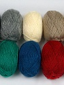 Please note that lengths are not equal for each lot. Fiber Content 100% Acrylic, Brand ICE, Dark Colors, Yarn Thickness 1 SuperFine  Sock, Fingering, Baby, fnt2-42181