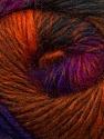 Fiber Content 70% Dralon, 30% Wool, Purple, Orange, Brand ICE, Fuchsia, Copper, Yarn Thickness 4 Medium  Worsted, Afghan, Aran, fnt2-42768