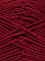 Fiber Content 55% Cotton, 45% Acrylic, Brand ICE, Burgundy, Yarn Thickness 4 Medium  Worsted, Afghan, Aran, fnt2-45146