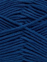 Fiber Content 55% Cotton, 45% Acrylic, Brand ICE, Dark Blue, Yarn Thickness 4 Medium  Worsted, Afghan, Aran, fnt2-45149