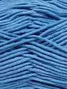 Fiber Content 55% Cotton, 45% Acrylic, Brand ICE, Baby Blue, Yarn Thickness 4 Medium  Worsted, Afghan, Aran, fnt2-45153