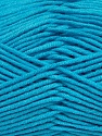 Fiber Content 55% Cotton, 45% Acrylic, Turquoise, Brand ICE, Yarn Thickness 4 Medium  Worsted, Afghan, Aran, fnt2-45154