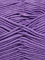 Fiber Content 55% Cotton, 45% Acrylic, Lilac, Brand ICE, Yarn Thickness 4 Medium  Worsted, Afghan, Aran, fnt2-45158