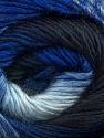 Fiber Content 50% Acrylic, 50% Wool, Brand ICE, Blue Shades, Yarn Thickness 2 Fine  Sport, Baby, fnt2-45313