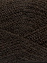 Fiber Content 100% Premium Acrylic, Brand ICE, Dark Brown, Yarn Thickness 3 Light  DK, Light, Worsted, fnt2-46504