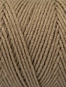 Items made with this yarn are machine washable & dryable. Fiber Content 100% Dralon Acrylic, Brand ICE, Camel, Yarn Thickness 4 Medium  Worsted, Afghan, Aran, fnt2-47175