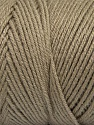 Items made with this yarn are machine washable & dryable. Fiber Content 100% Dralon Acrylic, Mink, Brand ICE, Yarn Thickness 4 Medium  Worsted, Afghan, Aran, fnt2-47176