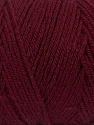 Items made with this yarn are machine washable & dryable. Fiber Content 100% Dralon Acrylic, Brand ICE, Burgundy, Yarn Thickness 4 Medium  Worsted, Afghan, Aran, fnt2-47188