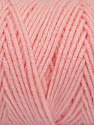 Items made with this yarn are machine washable & dryable. Fiber Content 100% Dralon Acrylic, Light Pink, Brand ICE, Yarn Thickness 4 Medium  Worsted, Afghan, Aran, fnt2-47194