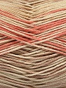 Fiber Content 100% Mercerised Cotton, Salmon, Brand ICE, Cream, Beige, Yarn Thickness 2 Fine  Sport, Baby, fnt2-48624