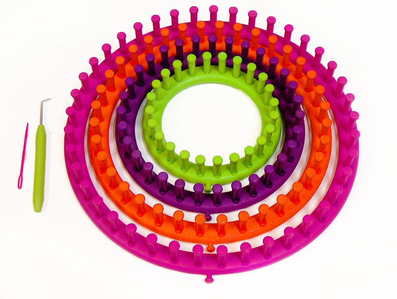 Round Knitting Loom Set Italiano : Round knitting looms set sizes at yarn paradise