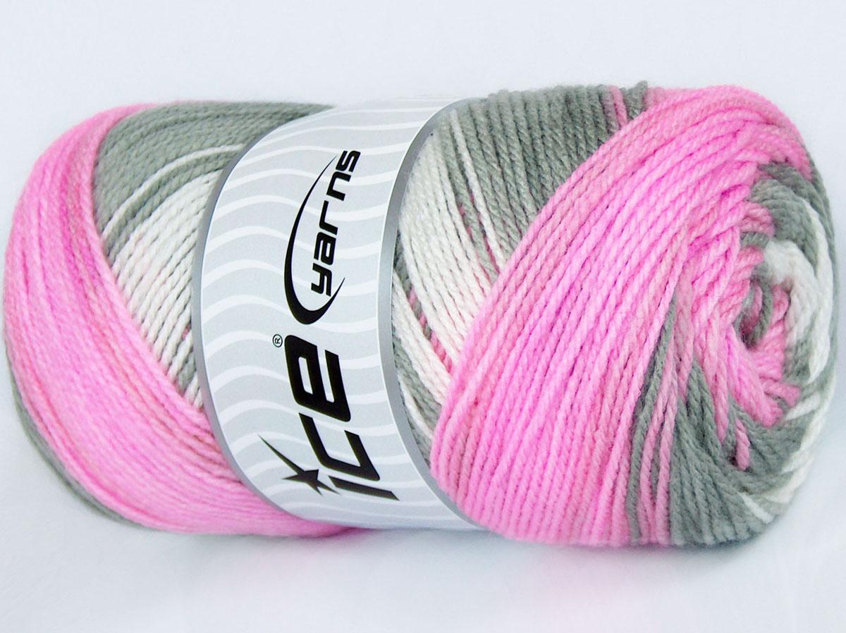 Magic Baby White Pink Grey At Ice Yarns Online Yarn Store