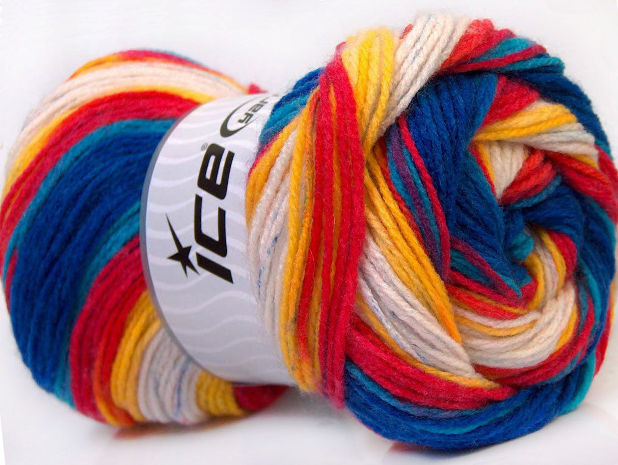 Magic Baby Yellow White Red Blue At Ice Yarns Online Yarn