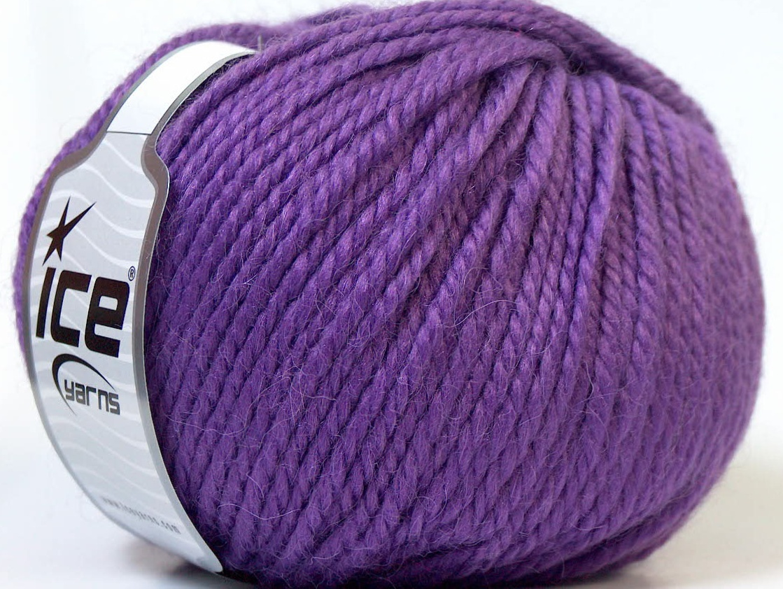 Alpaca Bulky Purple At Yarn Paradise