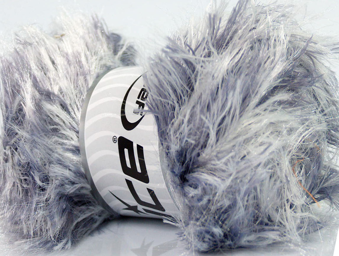 Faux Fur Color White Lilac At Ice Yarns Online Yarn Store