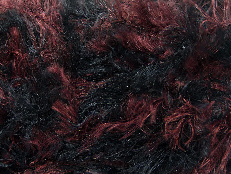 Faux Fur Color Maroon Black At Ice Yarns Online Yarn Store