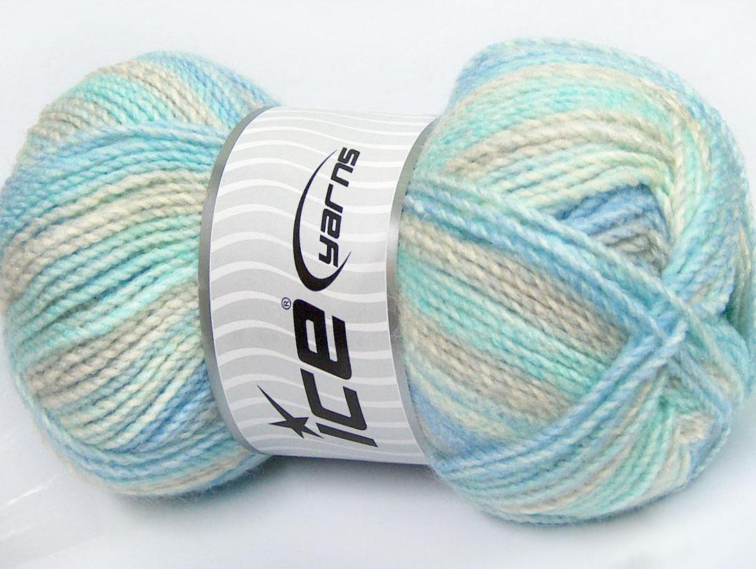 Mosaic mint light green light blue grey at ice yarns online yarn store - Light blue and mint green ...