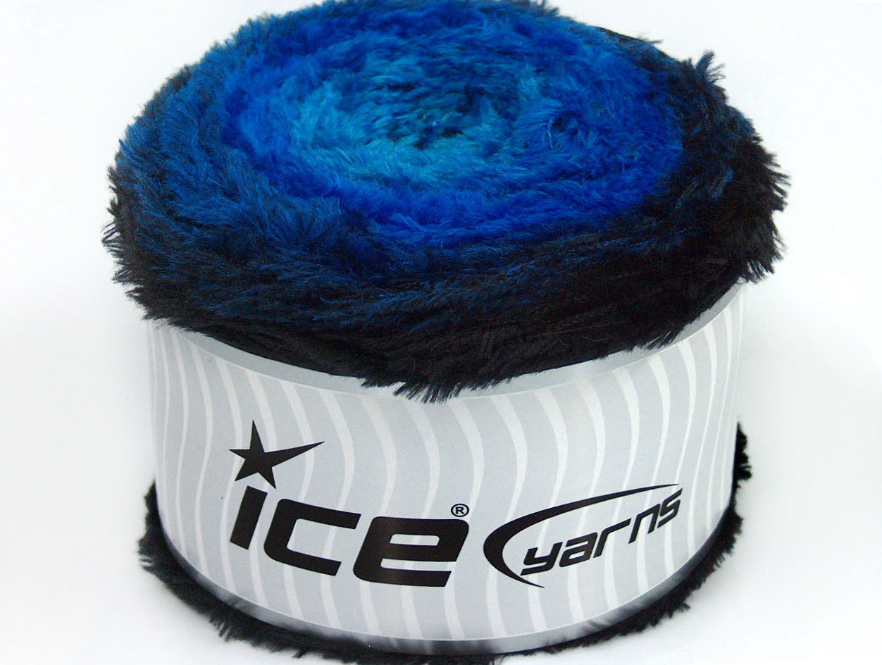 Cakes Fur Blue Shades Black At Ice Yarns Online Yarn Store